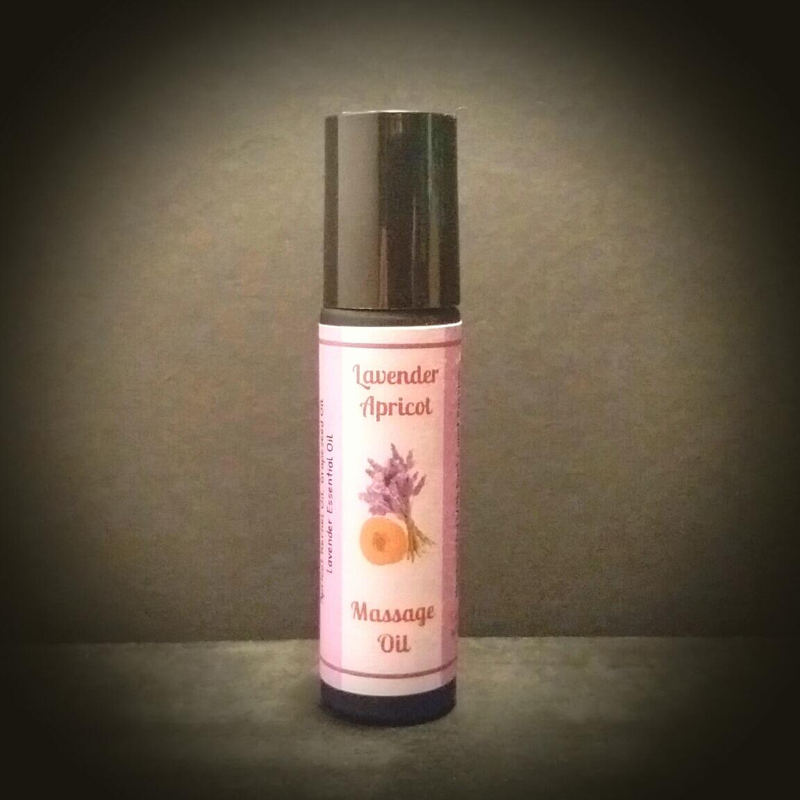 """Lavender Apricot"""" Headache, Migraine"""" Roll-On Massage Oil"""