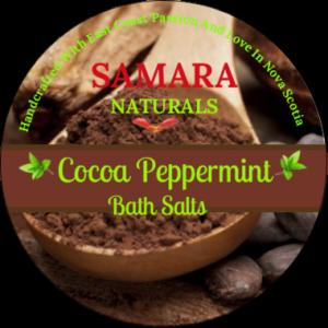 "Cocoa Peppermint ""Energizing"" Bath Salts"